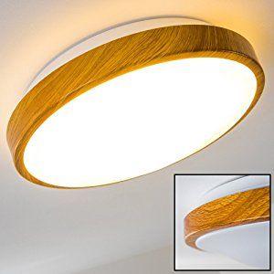 Bad Deckenleuchte In Holz Optik Deckenlicht Fur Badezimmer Mit Warmweissem Licht Fur Gemutliche Atmosphare Badlampe Sora Led Deckenlampen Deckenlampe Lampe