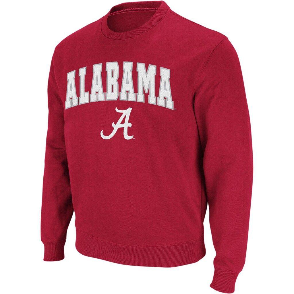Men S Colosseum Crimson Alabama Crimson Tide Arch Logo Crew Neck Sweatshirt Sweatshirts Crew Sweatshirts Crew Neck Sweatshirt [ 1024 x 1024 Pixel ]
