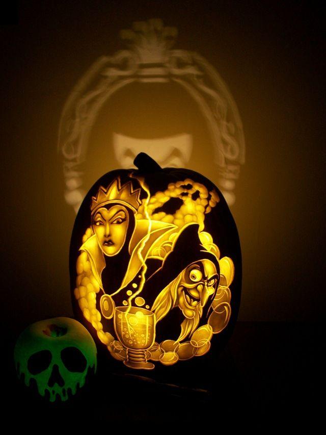 Stunning disney villains pumpkin carvings