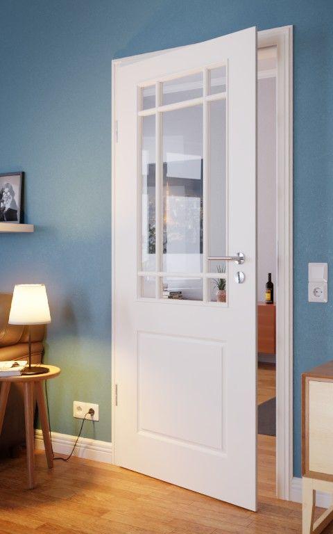 Provence Typ 4002 La Sprosse 4 Weisslack Innentur Westag Getalit In 2020 Innenturen Innenturen Mit Glas Badezimmer Design