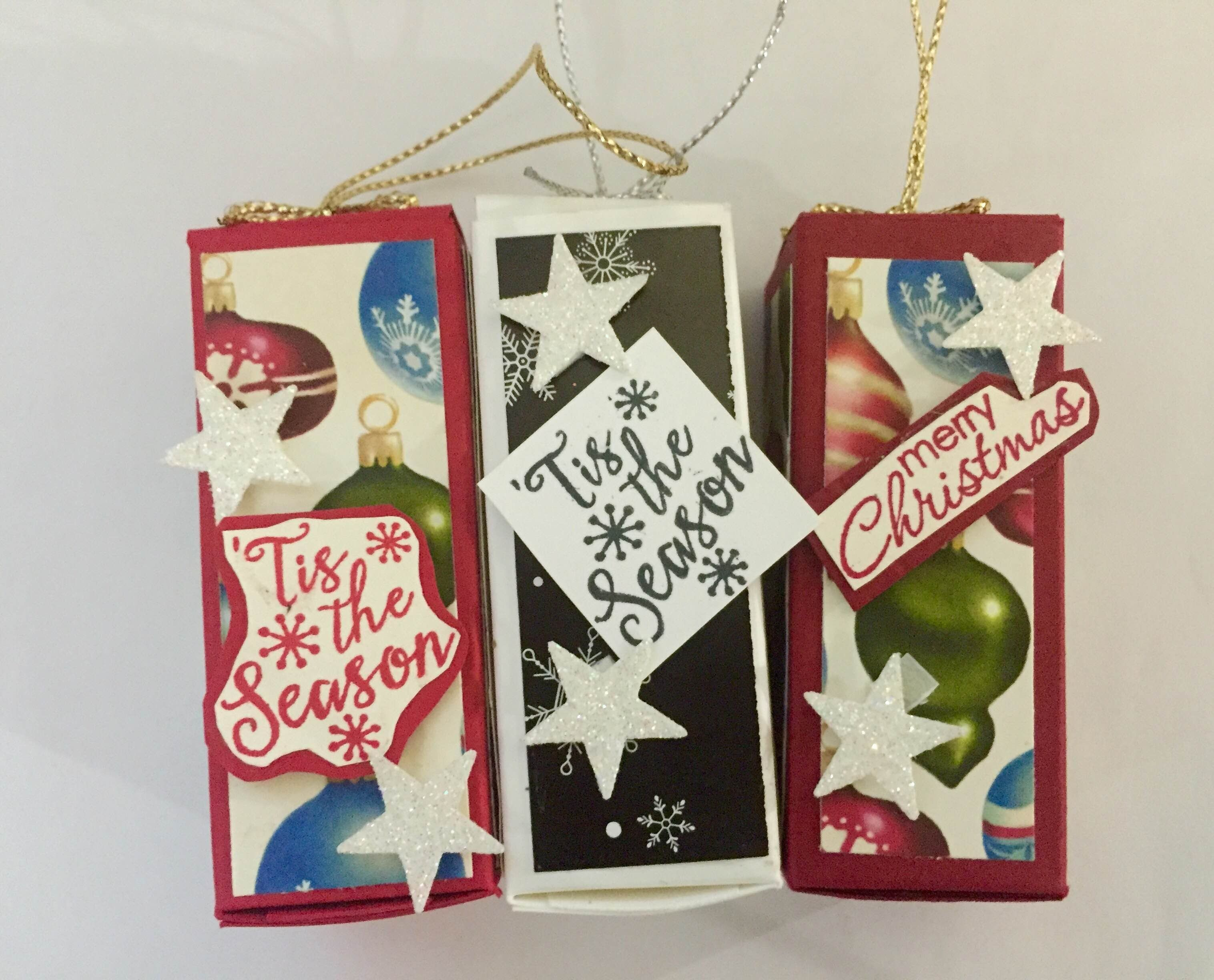Winter wonderland christmas ornaments using stampinuup by mahes