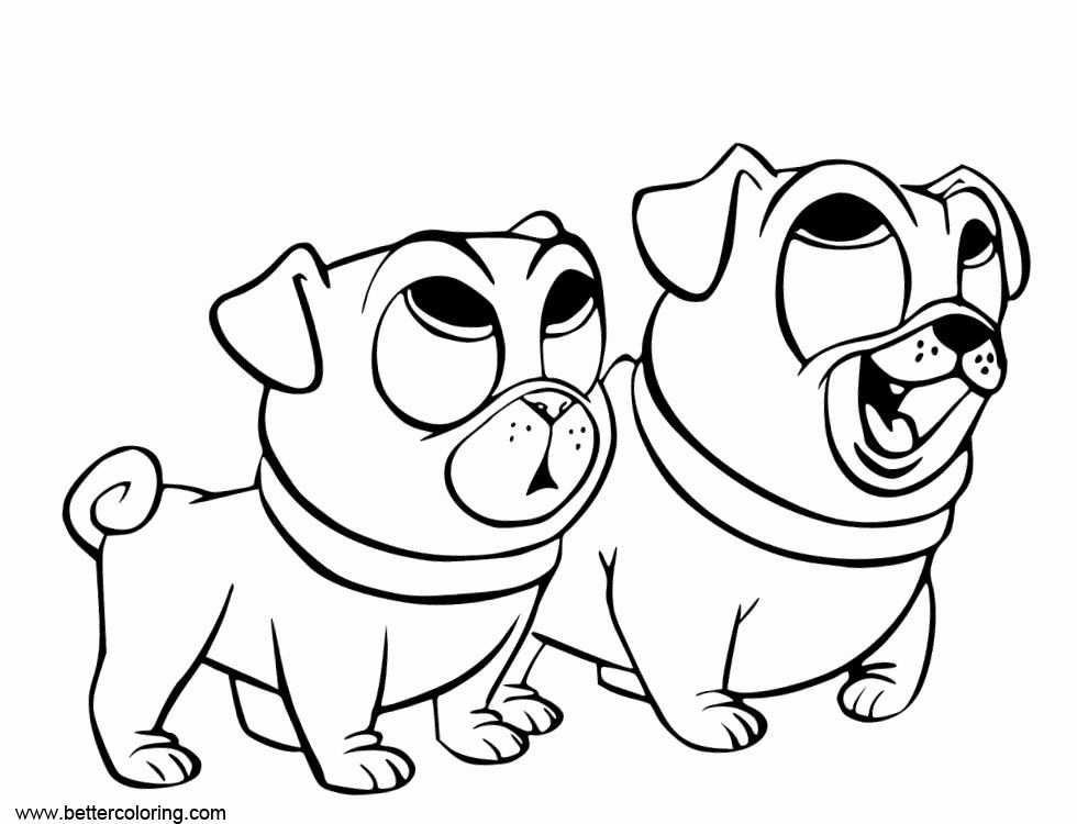 32 puppy dog pals coloring page in  ( images