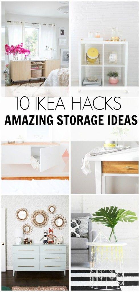 10 IKEA HACKS- Amazing Storage Ideas