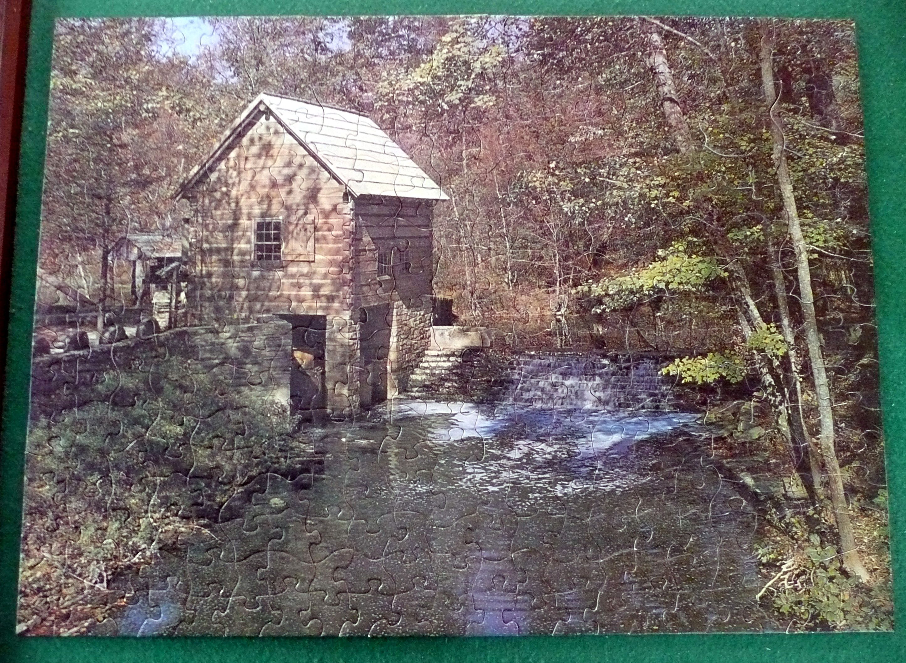 """Tuco puzzle """"Rustic Mill."""" Tuco puzzles are really fun to work, as the pieces are very thick and sturdy--this one is totally interlocking as well."""