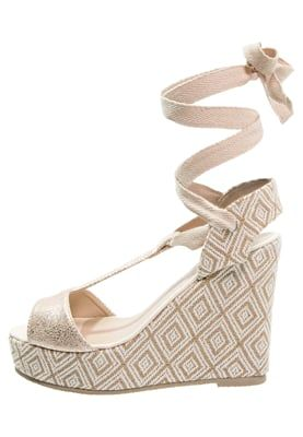SISSI - Sandalen met sleehak - blanc