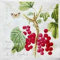 Servítka - hruška - jablká - slivky - ríbezle