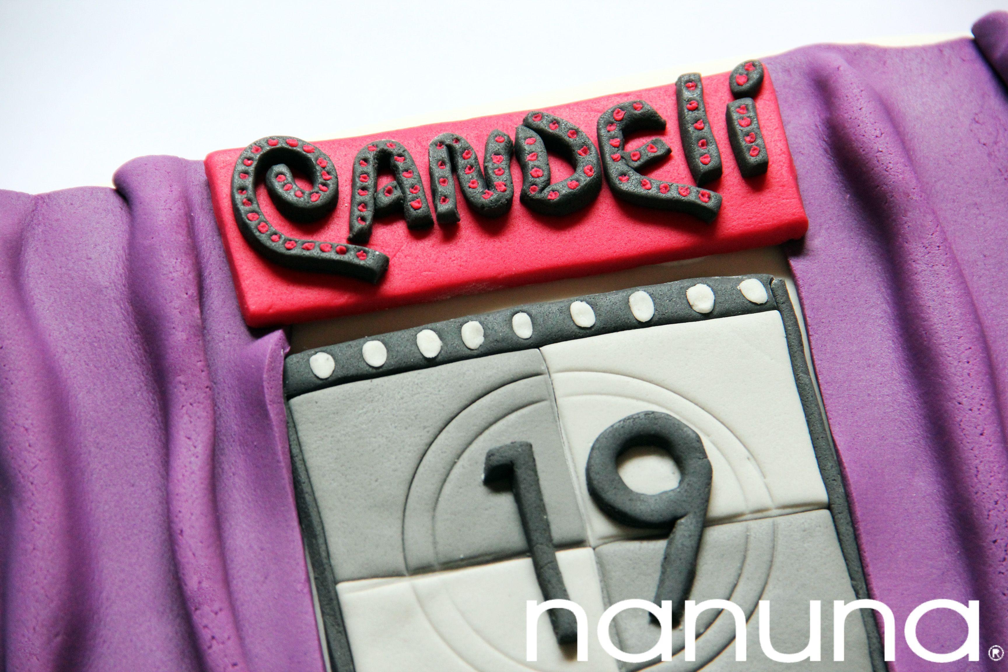 Torta personalizada: Telon teatral, cuenta regresiva, nombre al estilo Cabaret. #Cupcakes #Tortas #Argentina #Nanuna Conocenos en http://nanuna.com.ar/