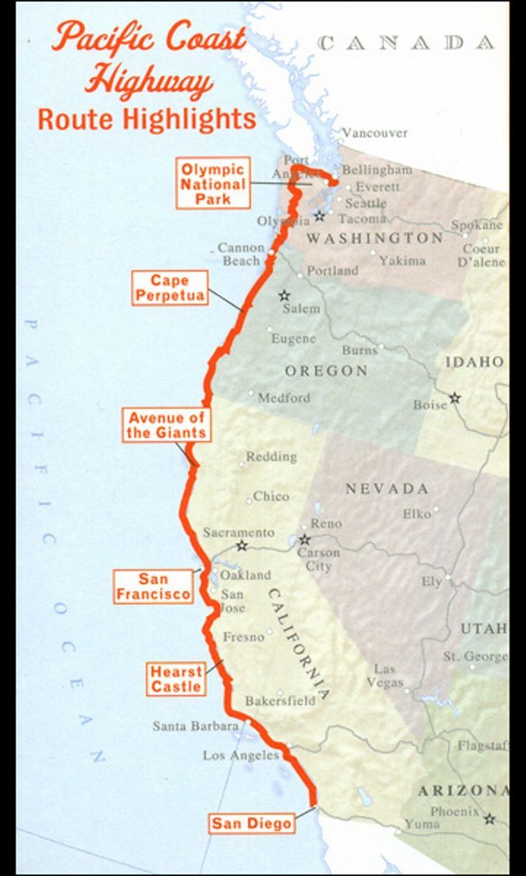 pacific coast highway road trip. seattle to san diego. hope to do