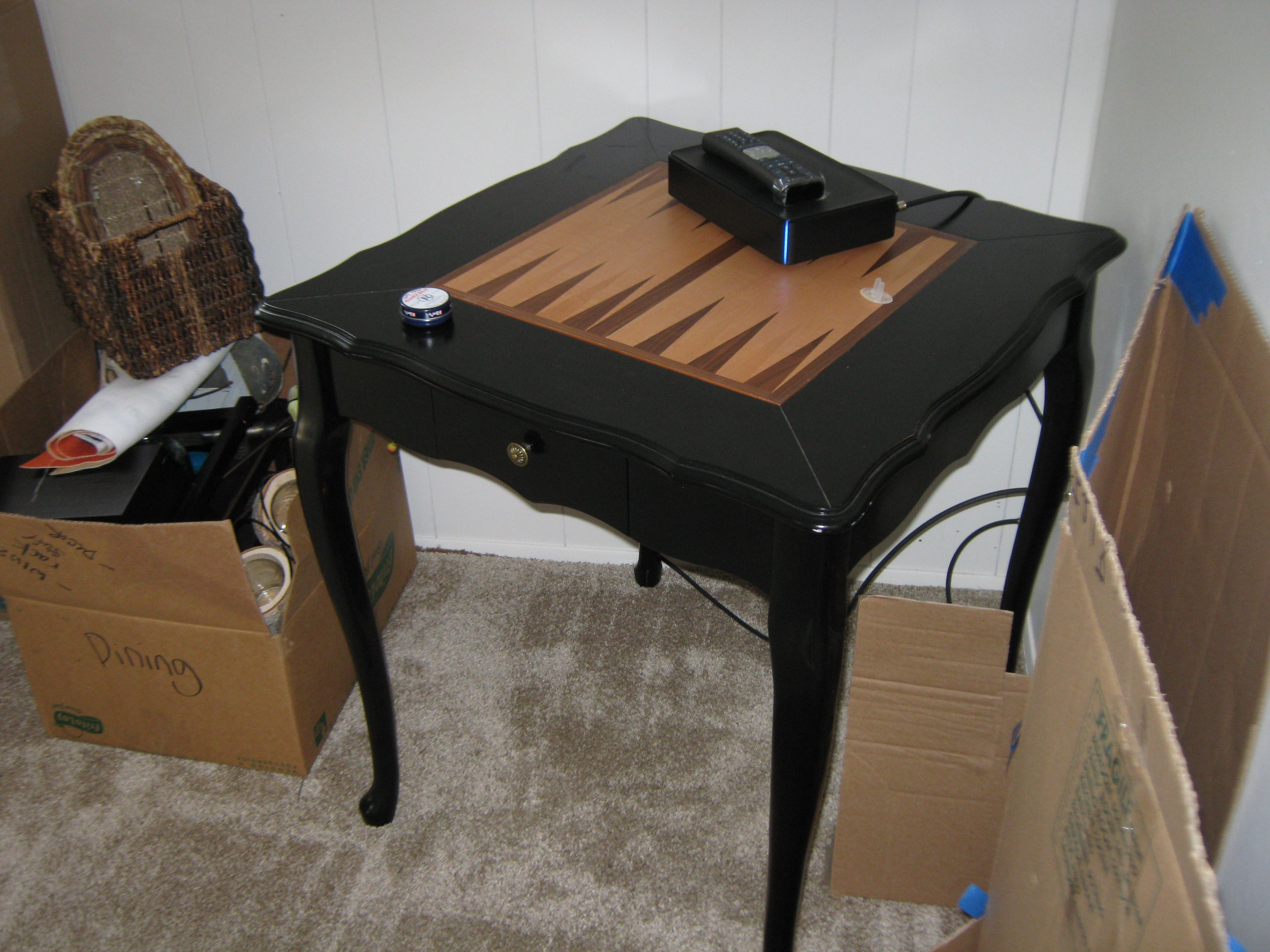Game Table For Corner.