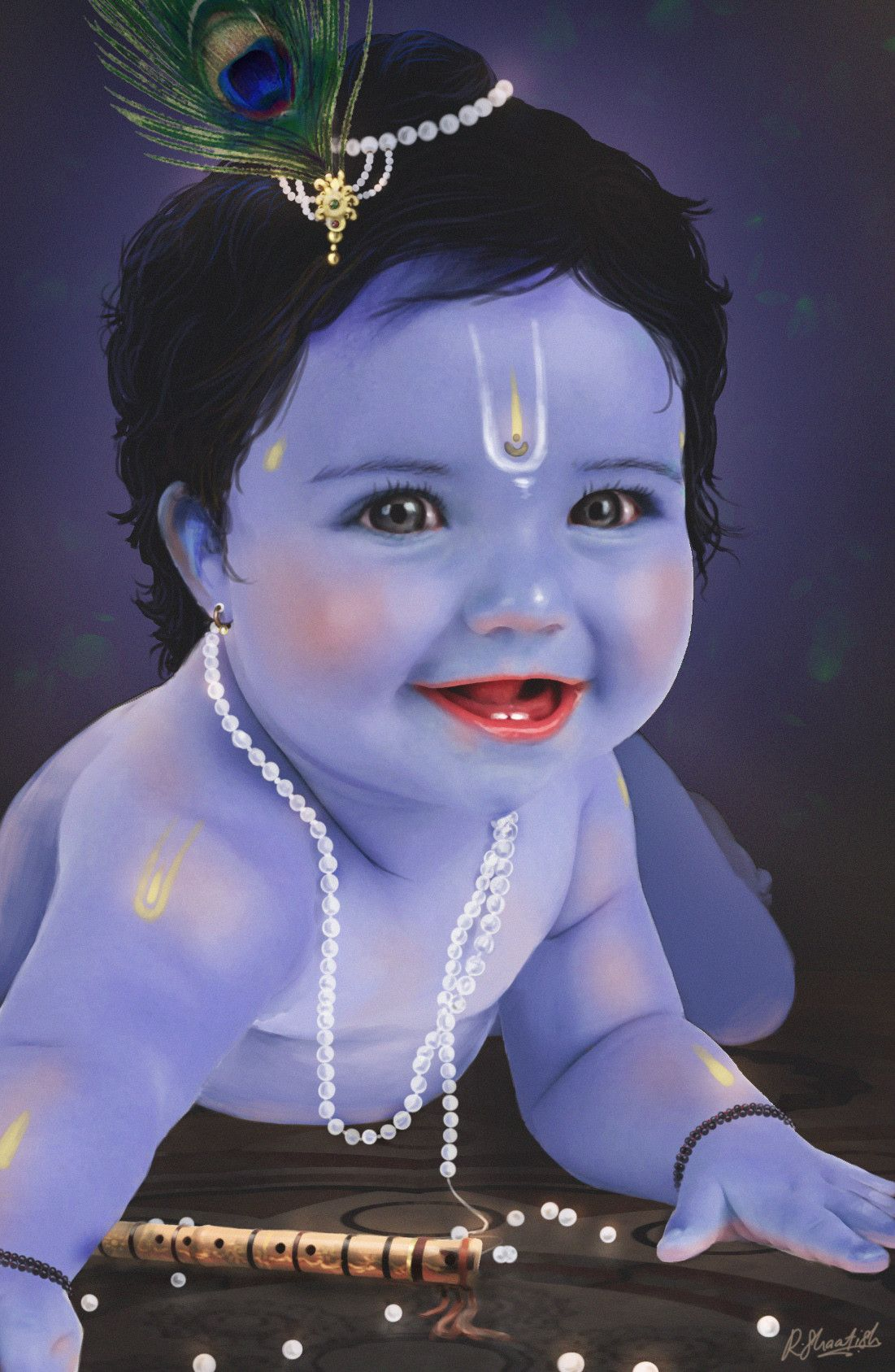 Paramchaintanya Men Shaatish Rajendranconcept Artist And 3d Animator Baby Krishna Little Krishna Lord Krishna Images