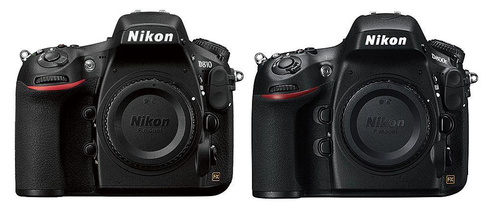 Nikon D810 Vs D800 D800e