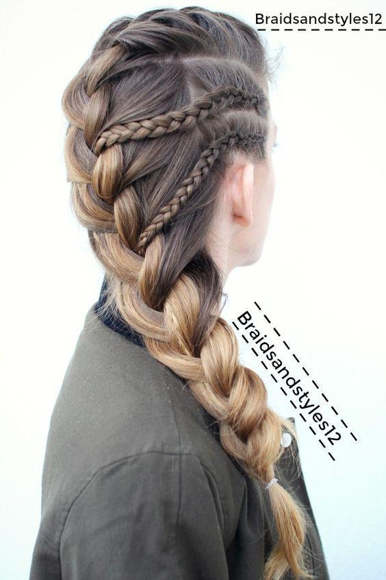10 einfache stilvolle geflochtene Frisuren für langes Haar – inspirierte kreative geflochtene Frisur Ideen #hairstyleideas