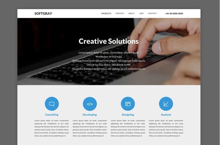 Softgray Simple Website Design Psd Template Simple