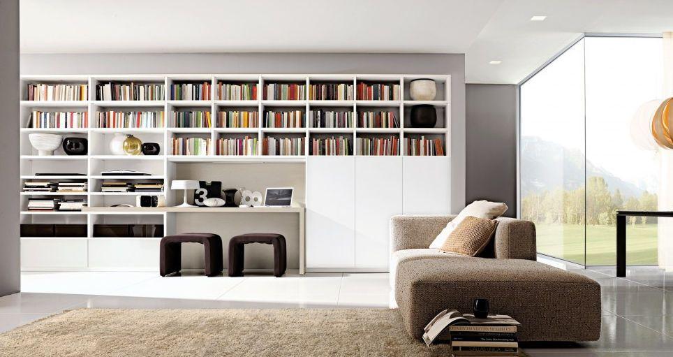 Librero arquitectura pinterest libreros bibliotecas - Mueble escritorio moderno ...