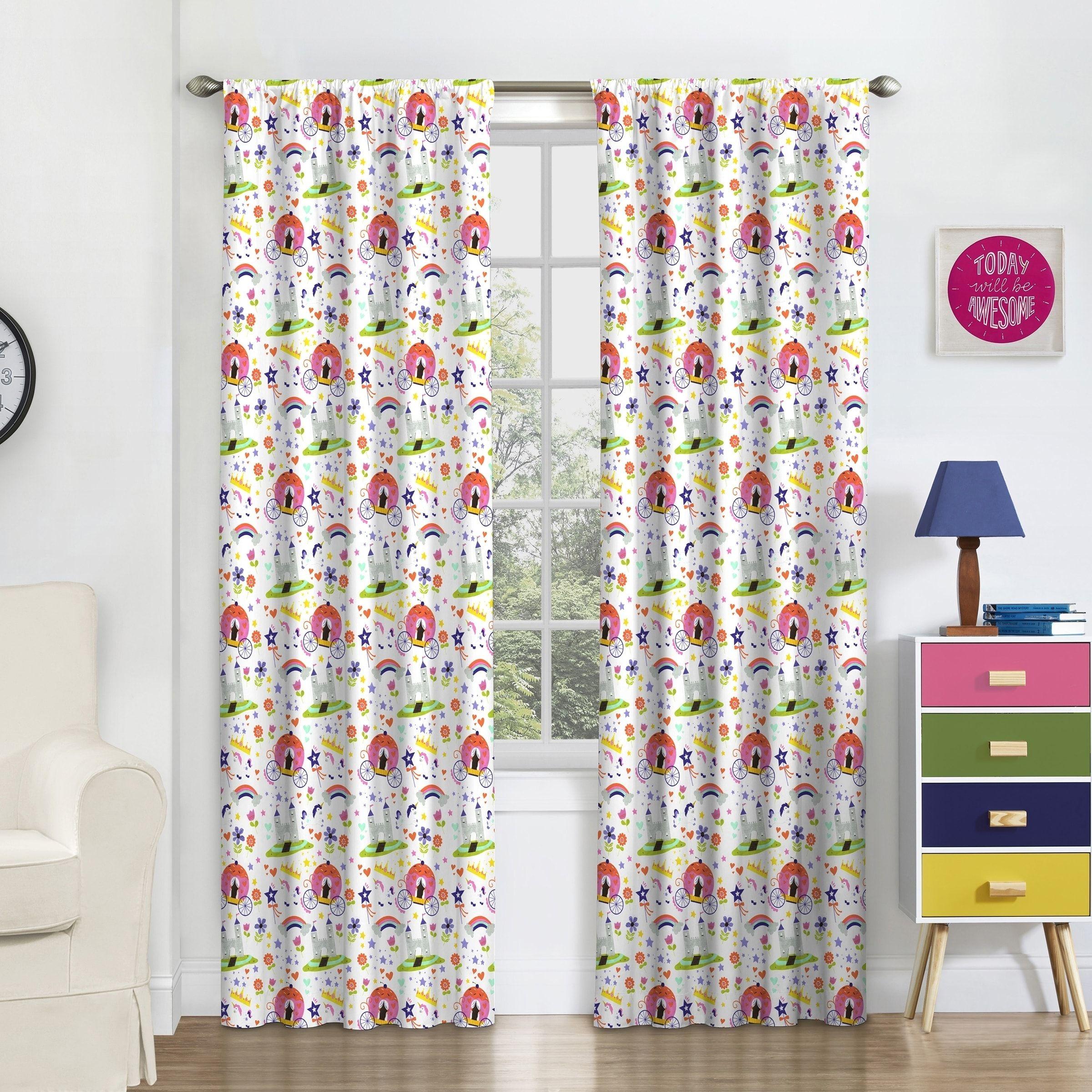 Eclipse Kids Pretty Princess Blackout Window Curtain Panel (42X84