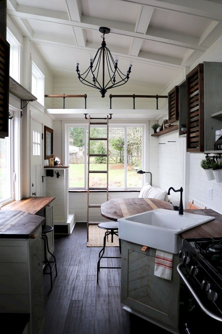 44+ Magnificent Tiny House Kitchen Maximize Space Ideas #tinyhousebathroom
