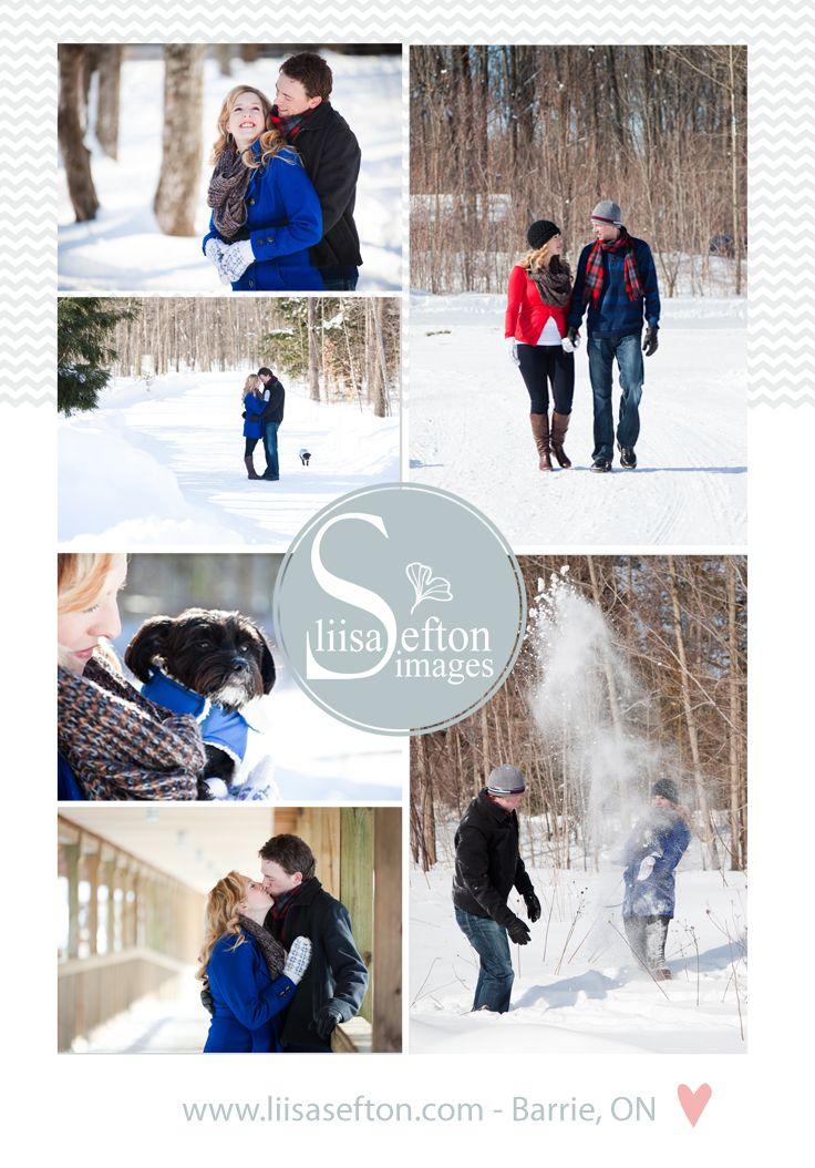 Winter Engagement Photos Winter Photos Winter Couple Snowy Photos © Liisa Sefton Images http://www.liisasefton.com/blog/?load/blog_detail/page/58046/item/2388/scott---kathleen---sunny-winter-engagement-session---barrie-photographer