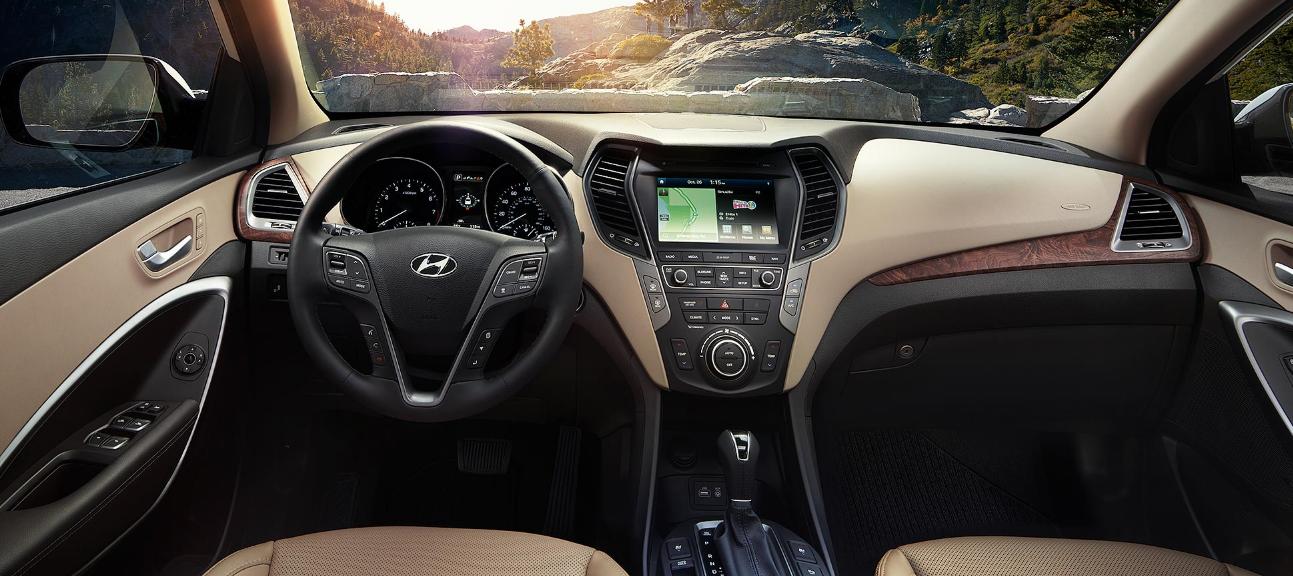 2018 Hyundai Santa Fe Technology Inside Hyundai Santa Fe Sport Hyundai Santa Fe Hyundai Santa Fe Interior