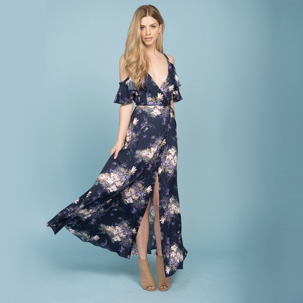 She swings navy floral maxi dress floral maxi dress floral maxi