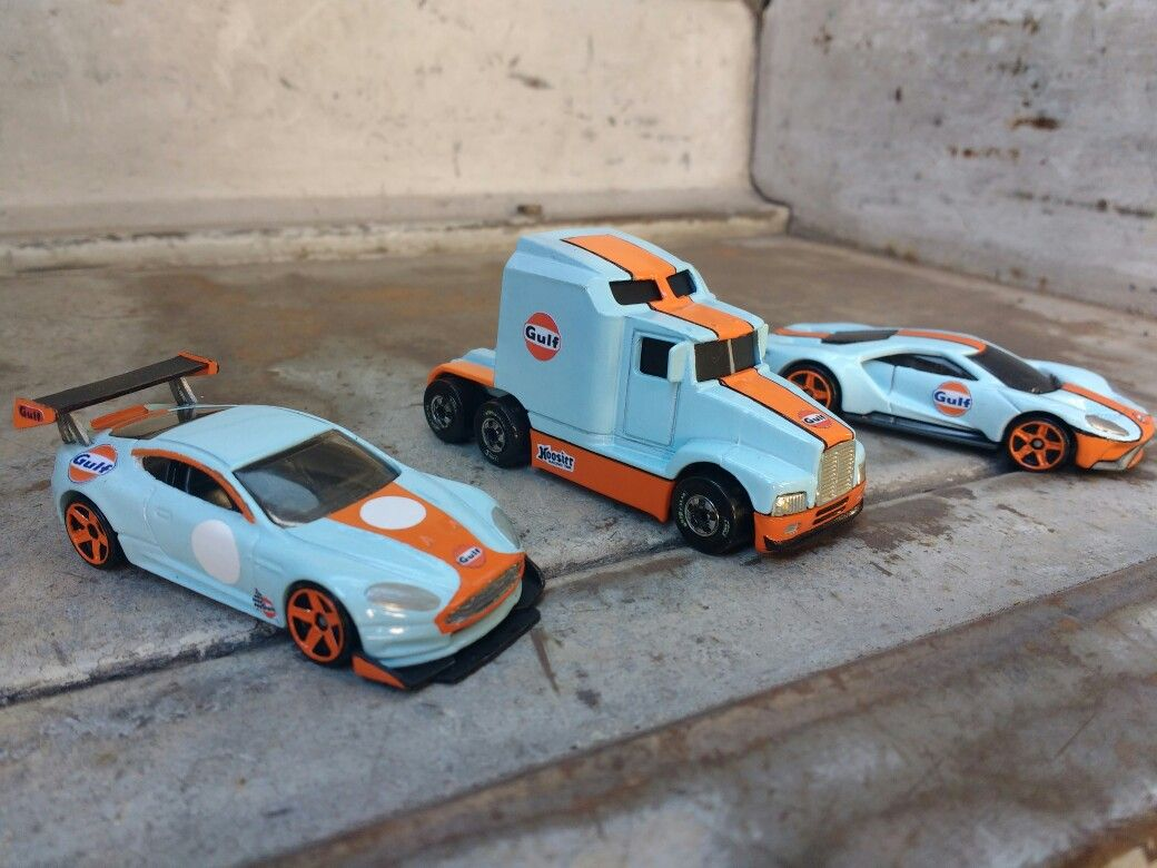Team Gulf Custom Custom Hot Wheels Toy Car Diecast Cars