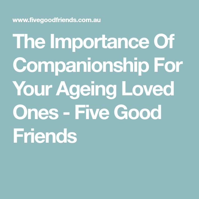 importance of good friends