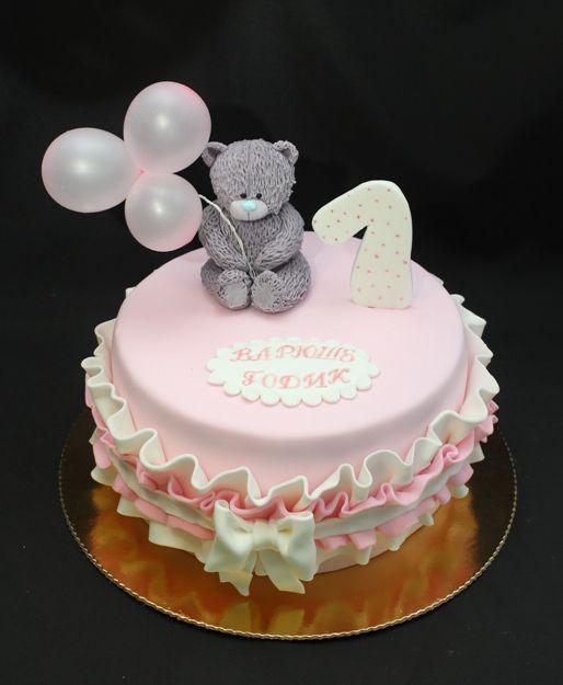торт с мишкой тедди фото
