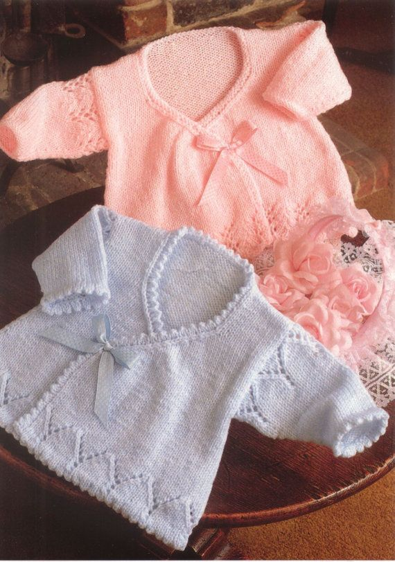 Vintage Knitting Pattern To Make Baby Matinee Coats In Dkinc Prem