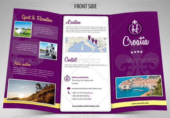 Free travel brochure templates graphic design for Sample brochure design tourism