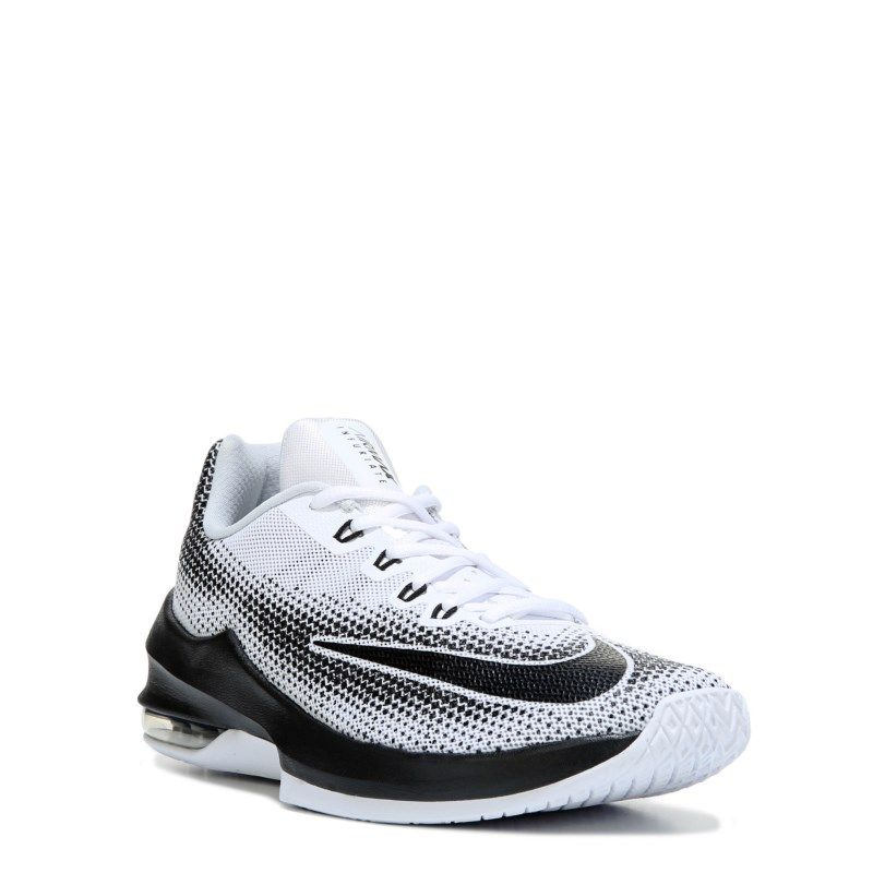 23410fc90187 Nike Men s Air Max Infuriate Low Basketball Shoes (White Black) - 13.0 M