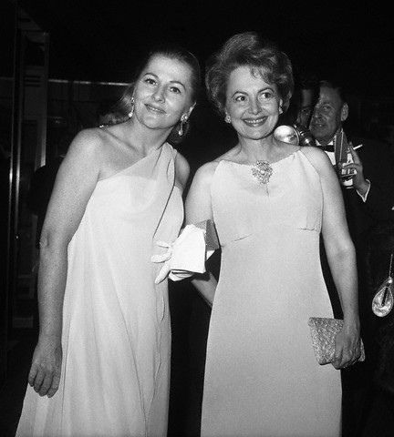 Sisters Joan Fontaine And Olivia Dehavilland Inspiration