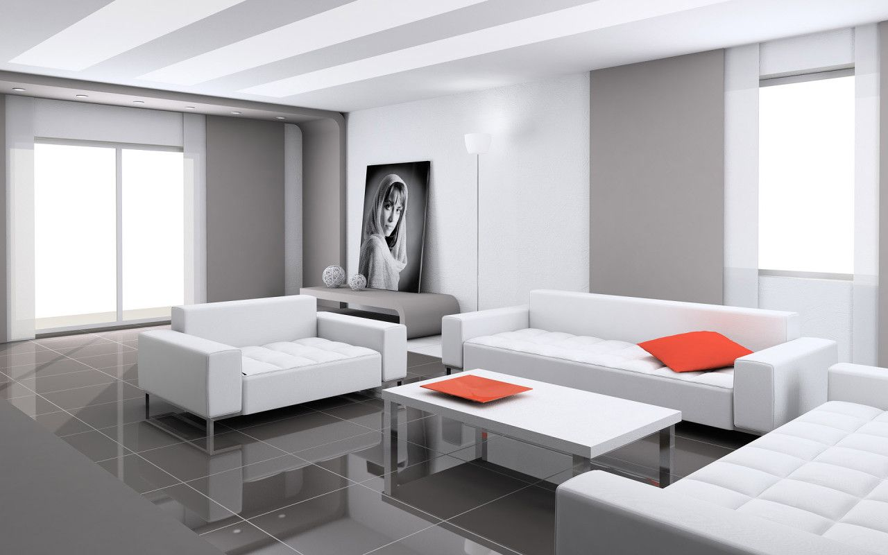 How To Decorate Your House In White? White Living Room ... Part 28