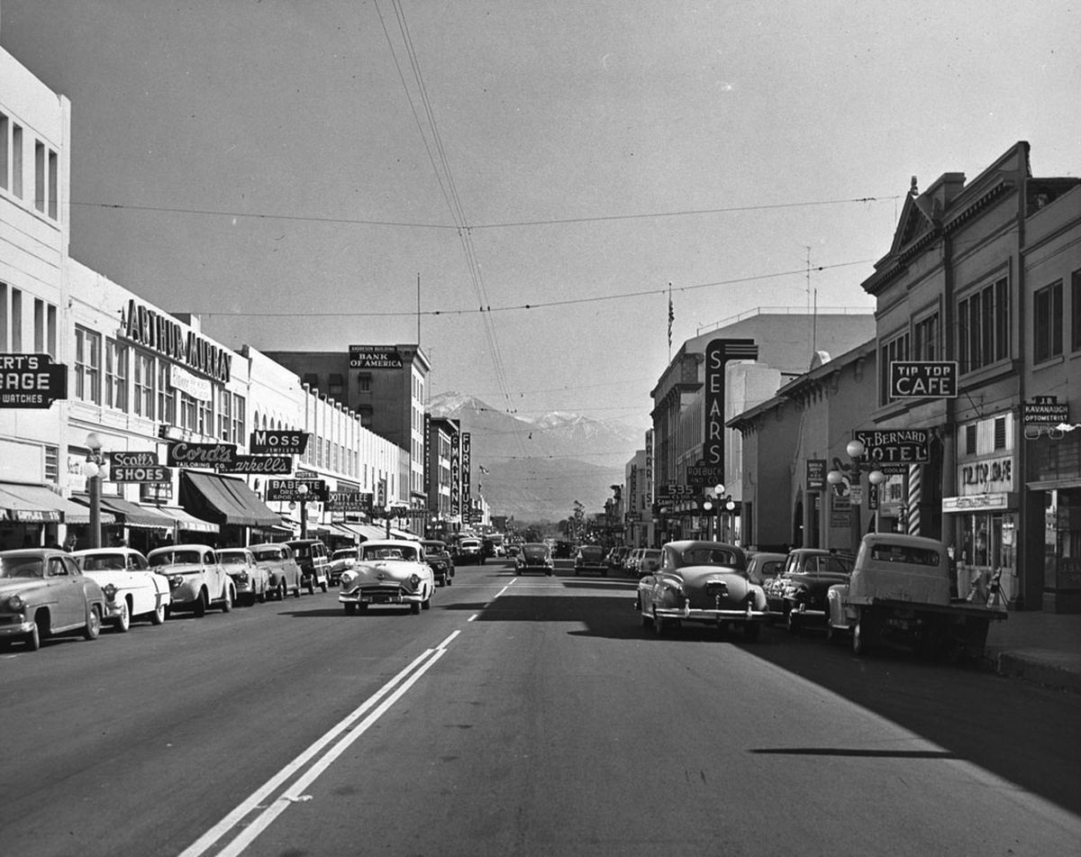 San Bernardino California 1950s San bernardino california
