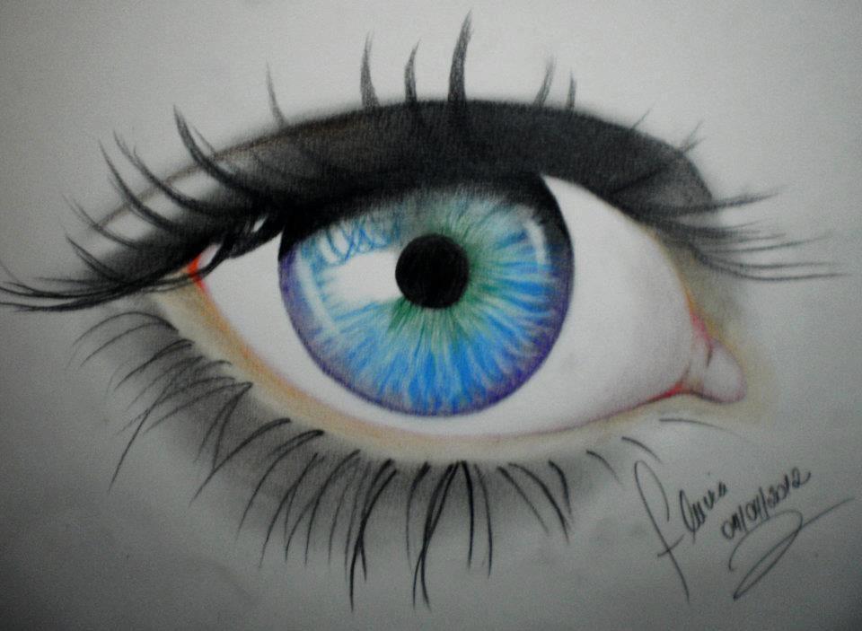 como pintar olhos com lápis de cor - Pesquisa Google