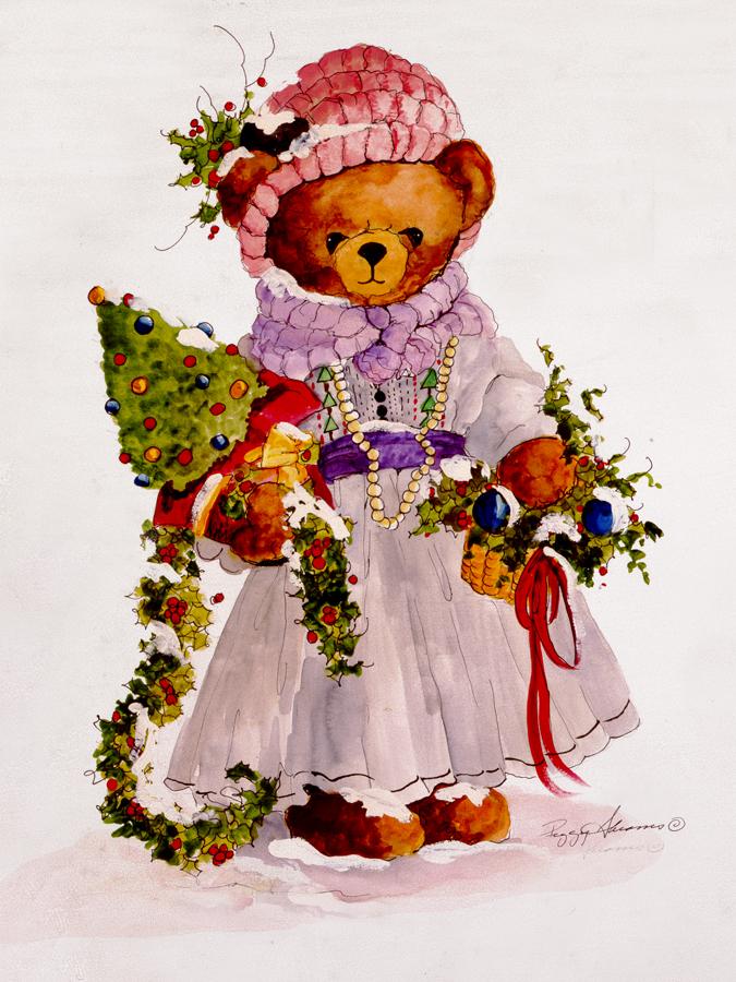 Своими руками, винтажные открытки с рождеством с мишками