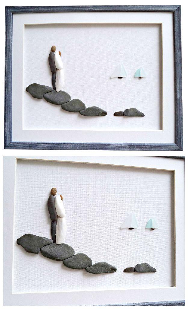 Wedding Or Engagement Gift For Couple Beach Wedding Framed Art