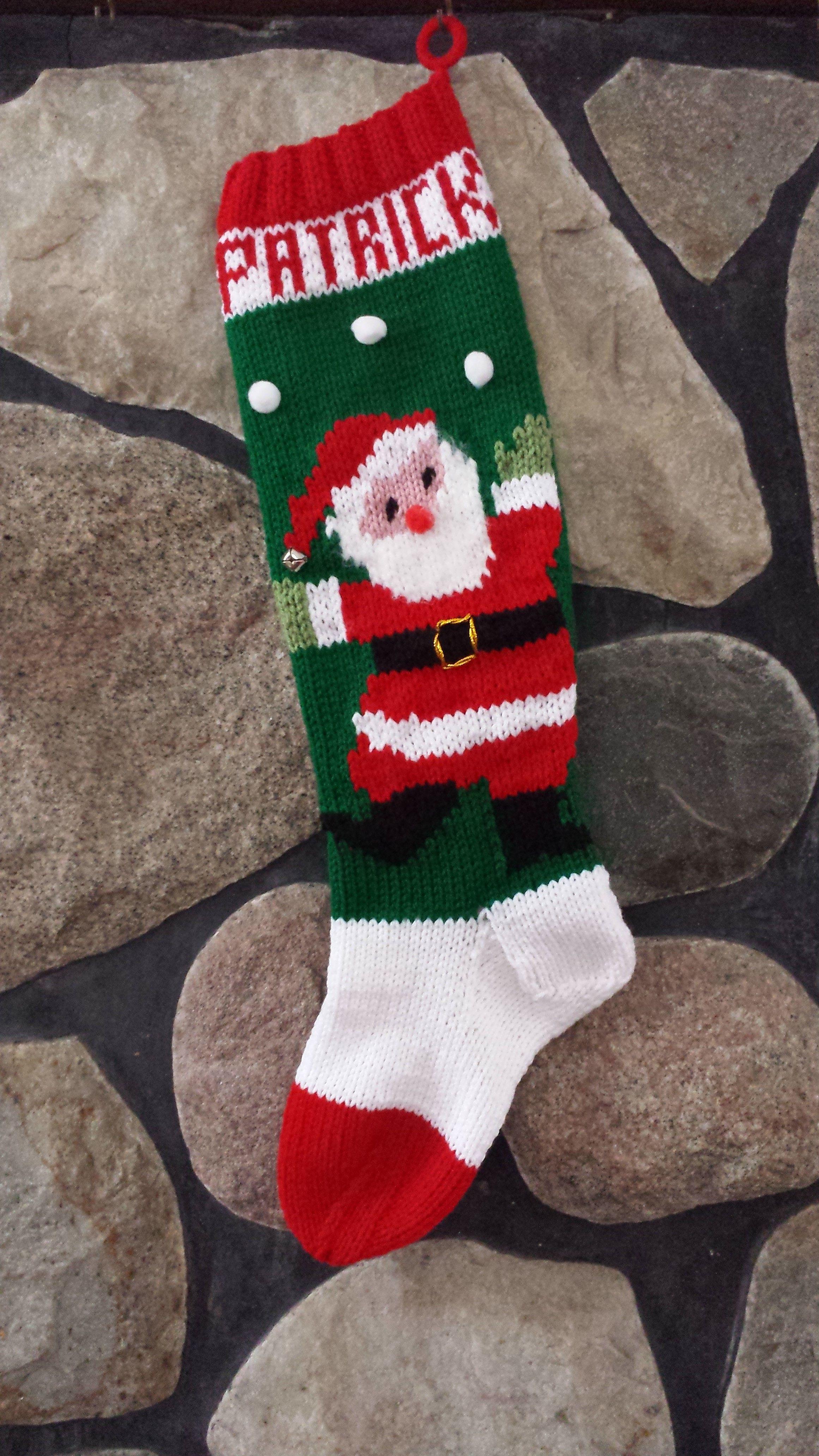 1 KNiT \u2022 Christmas STOCKING Patterns \u2022 Vintage 1970s \u2022 Xmas Instant Download \u2022 2 Patterns \u2022 Twas The Night Before Christmas 1 CROCHET