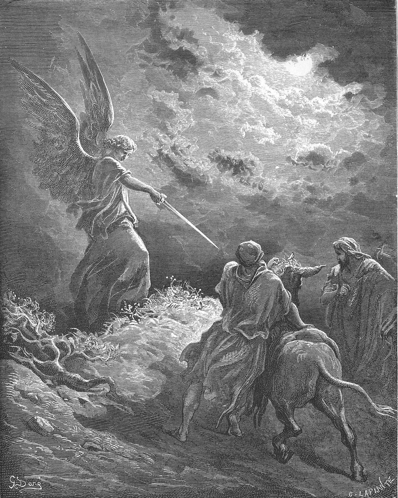 ADAM /& EVE CAST OUT OF GARDEN OF EDEN ENGRAVING BIBLE DORE ART REAL CANVAS PRINT