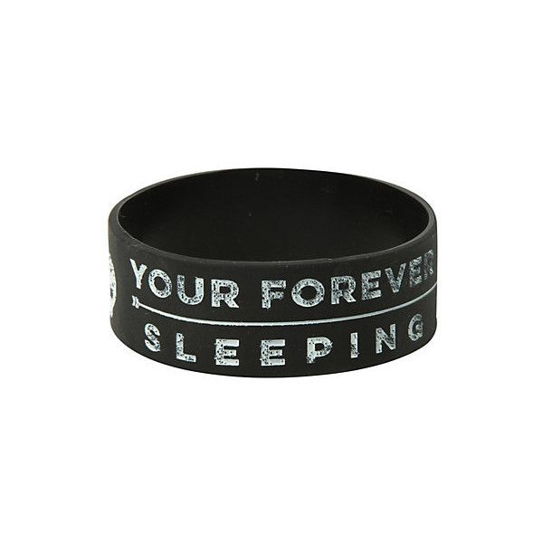 Sleeping With Sirens Forever Skulls Rubber Bracelet   Hot Topic (£4.95) ❤ liked on Polyvore featuring jewelry, bracelets, rubber bangles, skull jewellery, skull jewelry, rubber jewelry and skull bangle