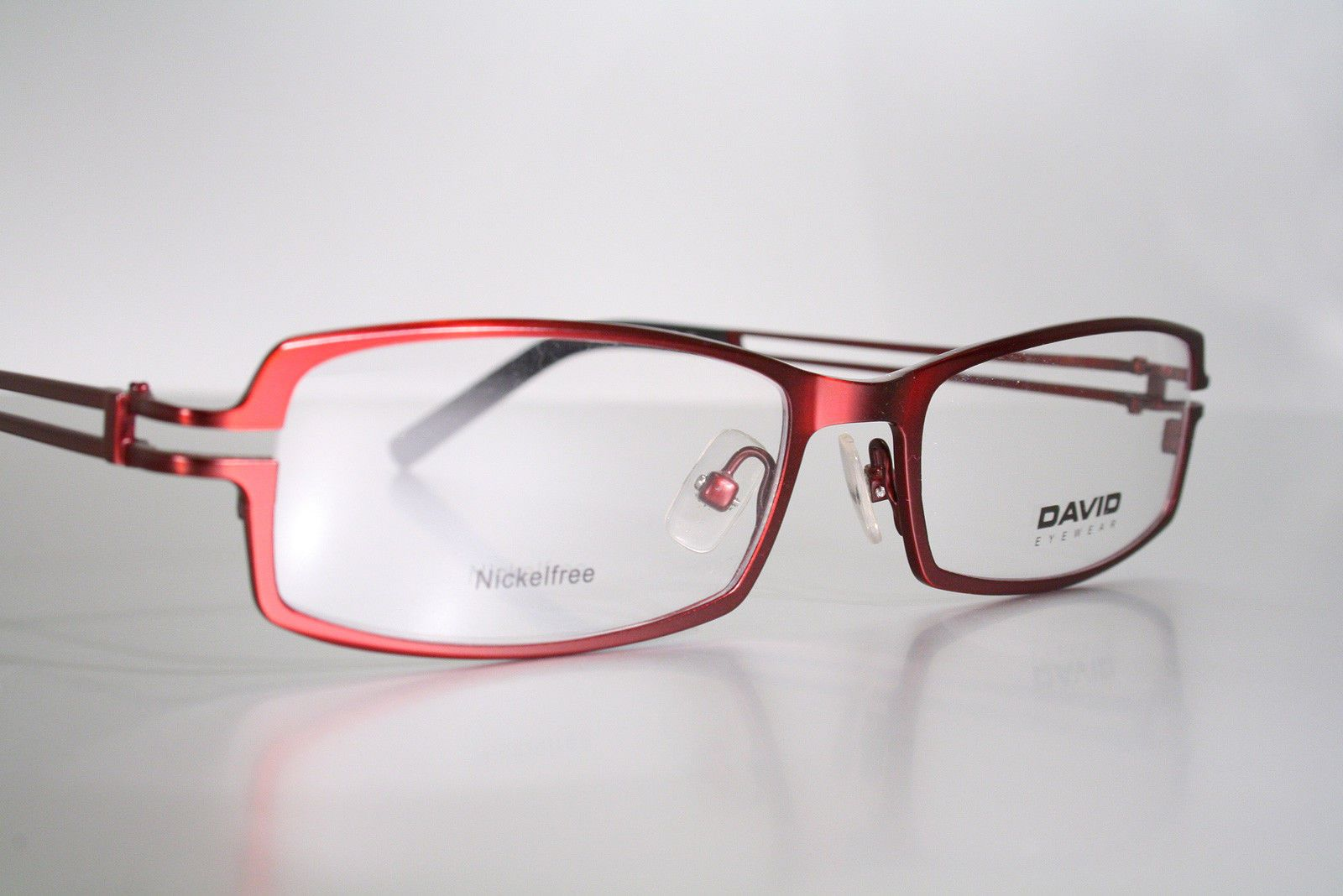 788a324ef64 Ruby Red DAVID EYEWEAR Unworn Nickel Free Manly Silver Fox Men s Eyeglass  Frames