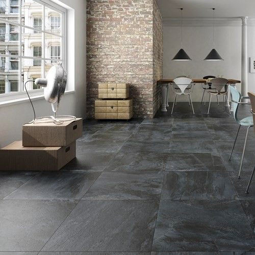 Nature Black Slate Floor Tile Room New Kitchen For An Old House