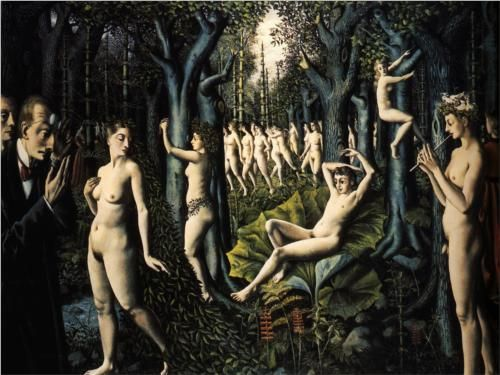 paul delvaux, the awakening of the forest