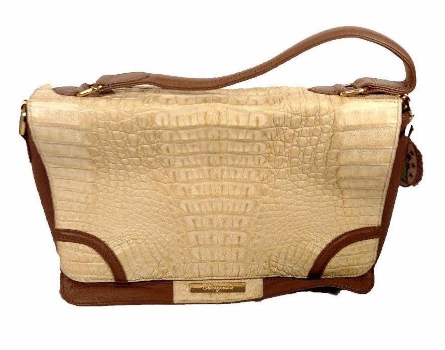 Torregrossa Beige Genuine Caiman Messenger Shoulder Bag 5a New With Tags Torregrossa Messengercrossbody Genuine Leather Bags Purses Womens Purses