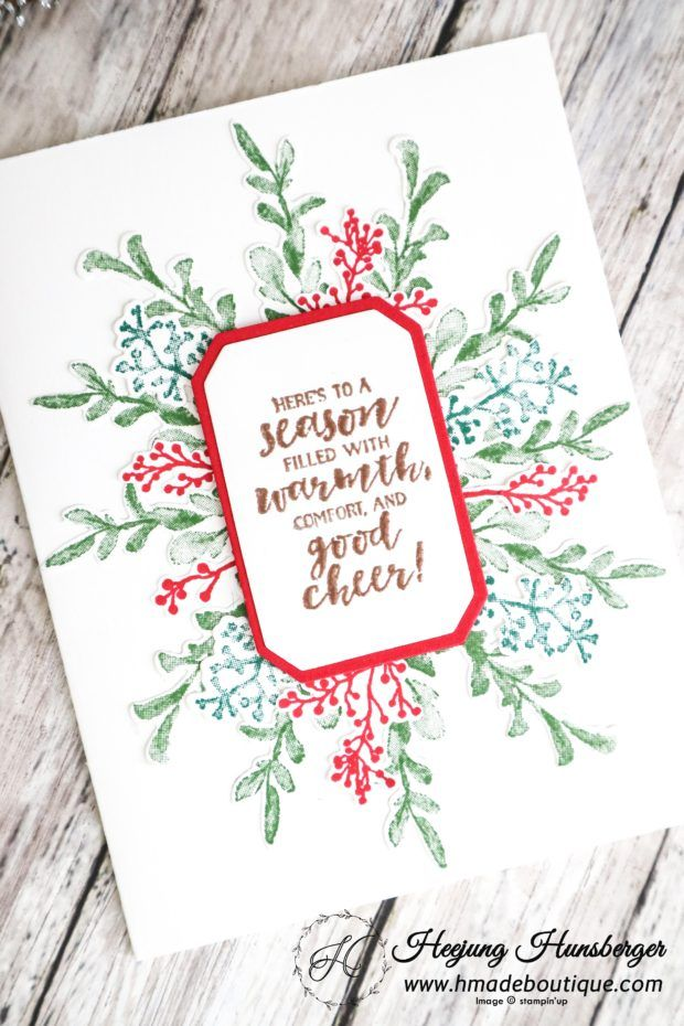 First Frost Christmas Card – H MADE BOUTIQUE | Hmade stampinup ...