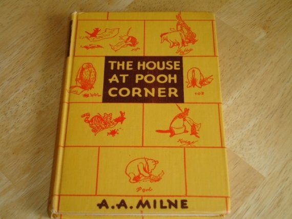 1941 The House At Pooh Corner Vintage Childrens Book House At