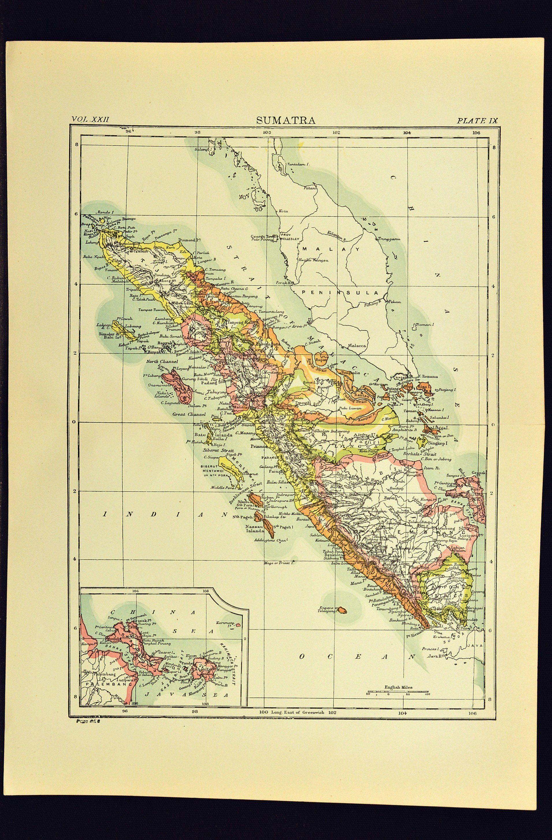 Antique Sumatra Map of Sumatra Colorful Medan Palembang West ... on hong kong map, padang map, balikpapan map, shah alam map, cebu map, borneo map, kabul map, baku map, indonesia map, bandar seri begawan map, east java map, palembang map, south jakarta map, pekanbaru map, rio de janeiro map, recife map, natal map, mandalay map, yogyakarta map, semarang map,
