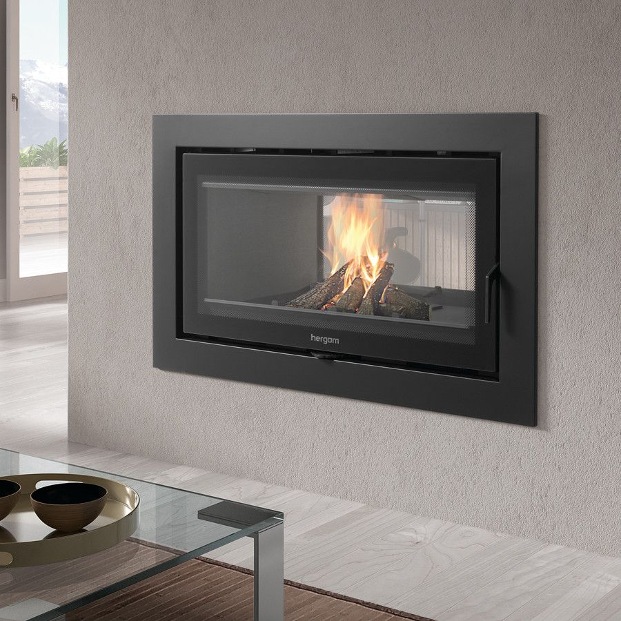 Show Details For Sere 100 2c Double Sided Inset Double Sided Stove Wood Burning Fireplace