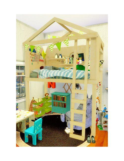 Lit Enfant Cabane Enfant Sims 4 Sims 4 Cc Meubles Bambin