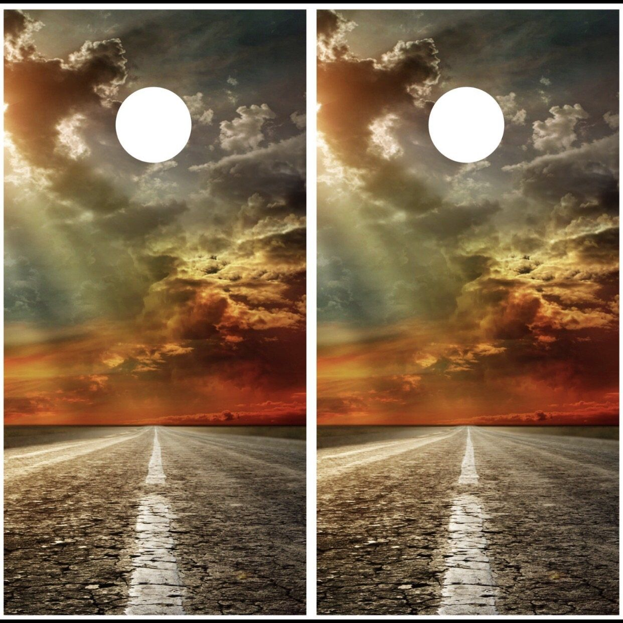 Sunset On A Country Road Corn Hole Pinterest
