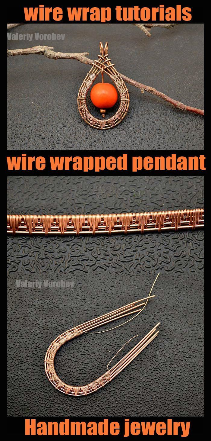 Photo of Handmade copper wire jewelry. Wire wrap tutorials. Wire wrapped pendant. – – # …,  #Copper …