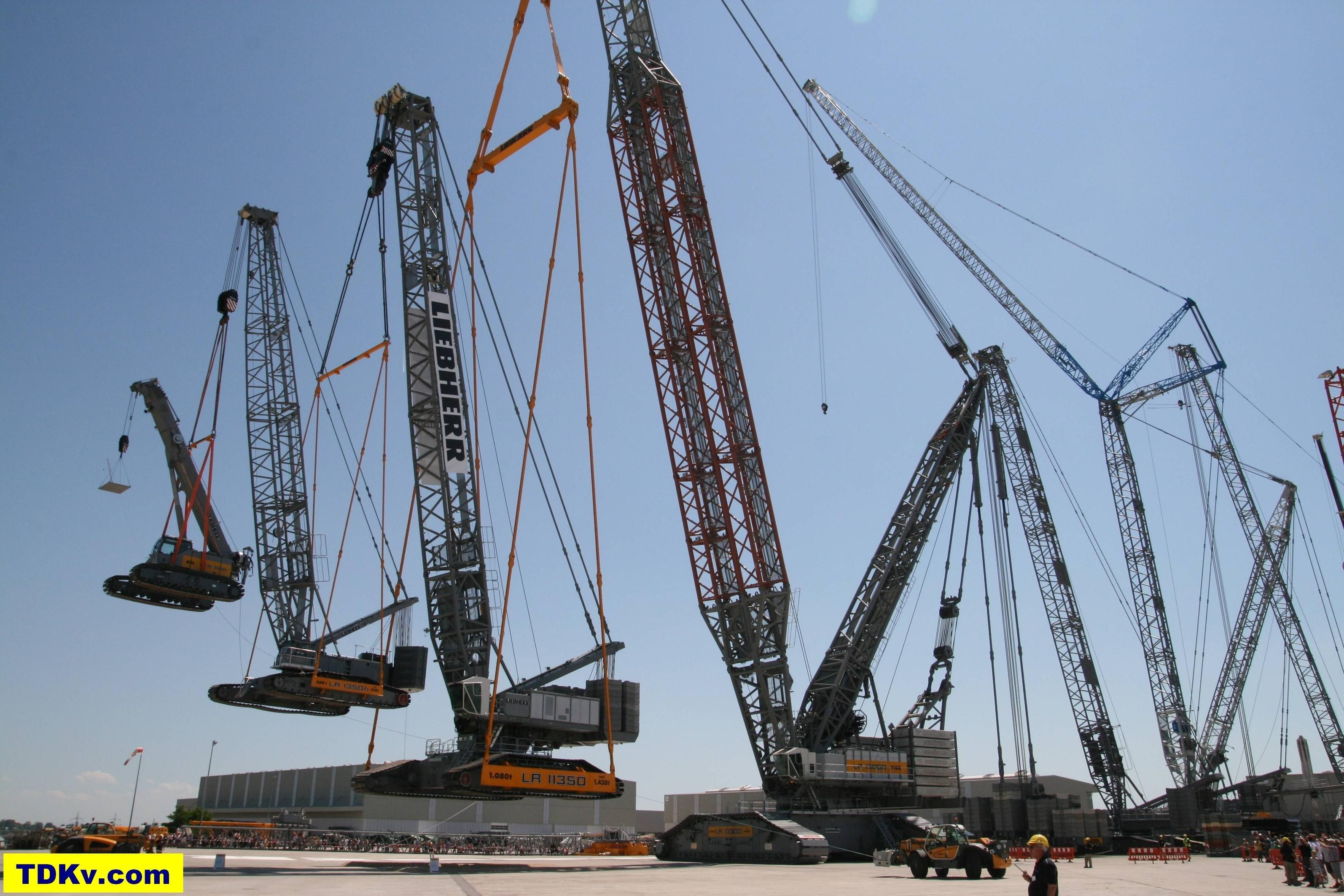 Mobile Crane Near Me : Liebherr lr crawler crane lifting a